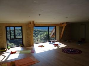 Salle de yoga du gite des Rimets